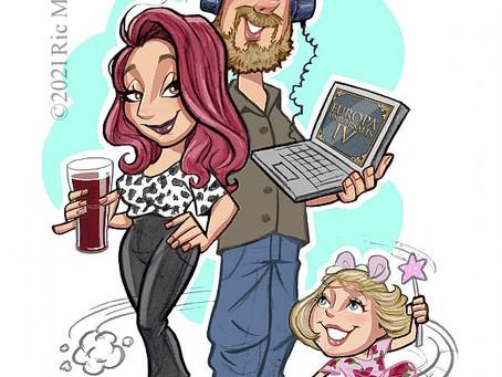 Leah, James and Lola.