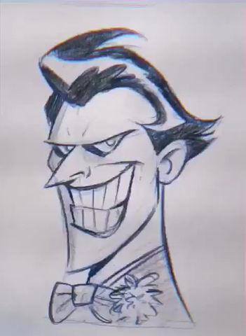 Quick Sketch of Bruce Timm's Joker.