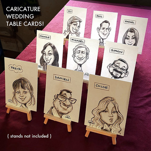 Caricature Table Cards