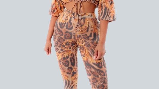 2 Piece Leopard Set