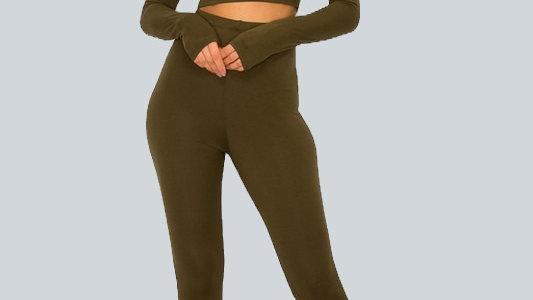 2 Piece Flare Bottom Pants Set