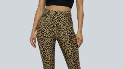 Ruched Bottom Leopard Pants