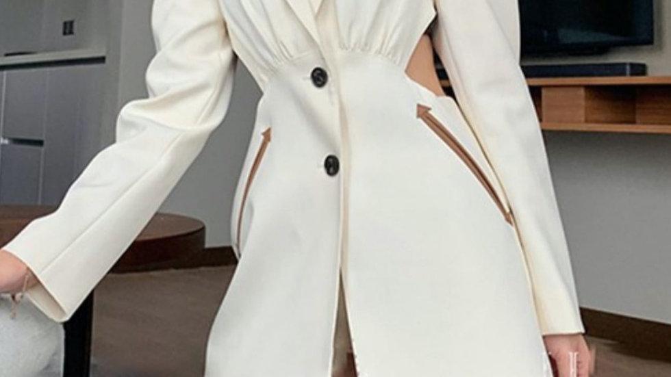 White back out blazer