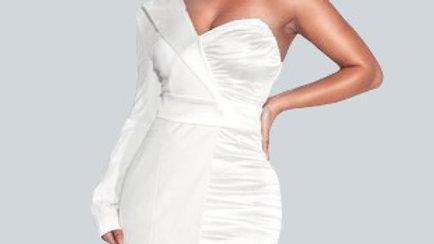 Olva One Sleeve Blazer Dress