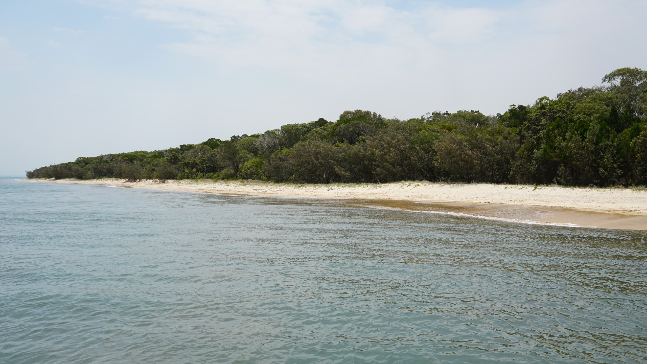 Approaching Fraser Island