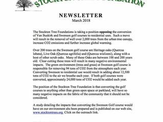 Stockton Tree Foundation Opposes sale of Swenson Property.