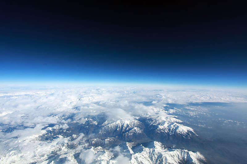 Curvature of the horizon as viewed from space.