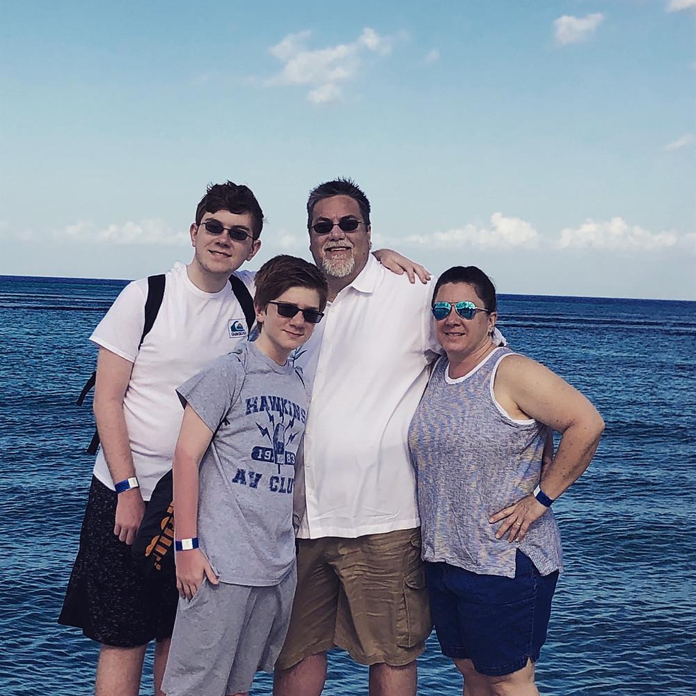 David Brodosi on the beach in Cozumel Mexico