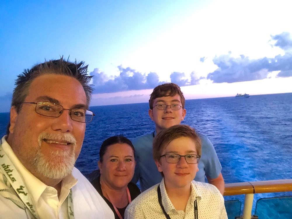 David Brodosi in a cruise ship to Cozumel