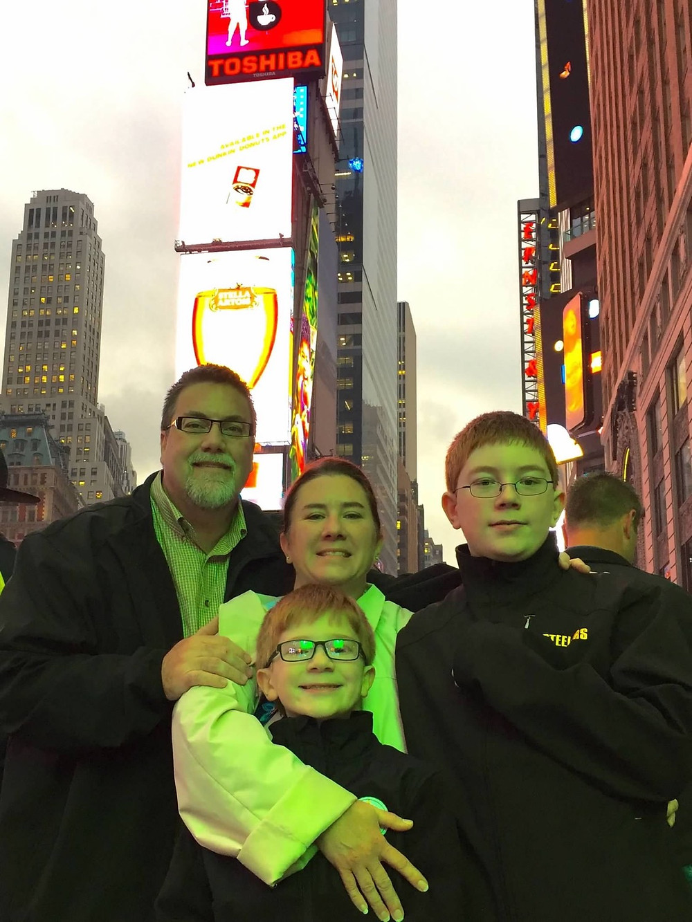 A photo of david brodosi and his family in New York