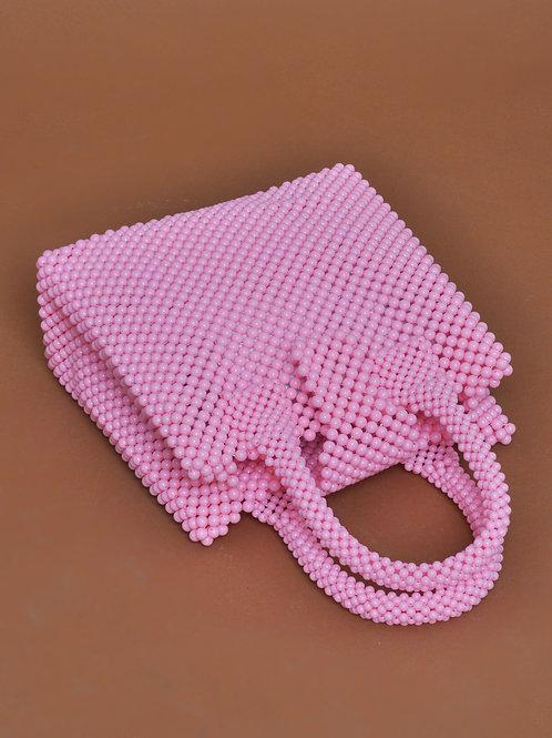 Baba bolso con cuentas rosa