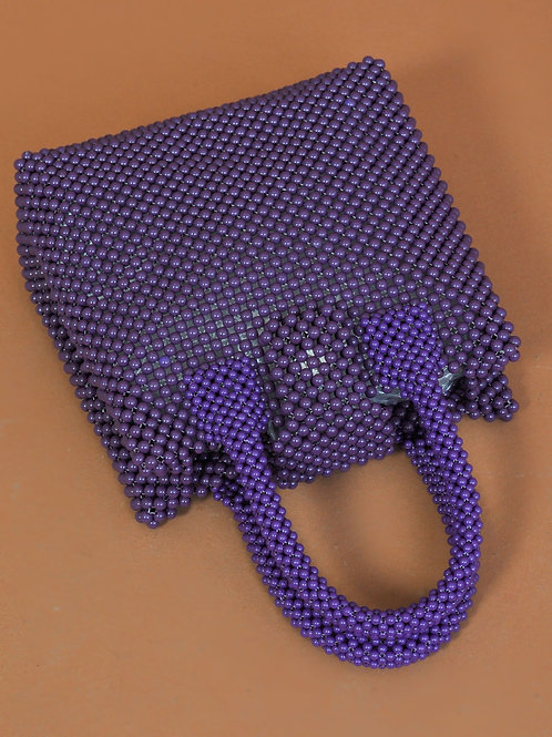 Baba beaded bag purple