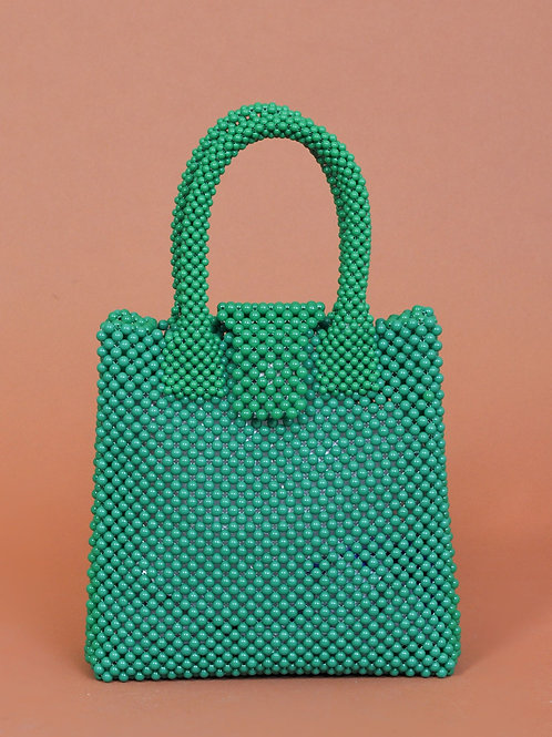 Baba beaded bag green