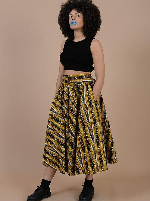 High baby midi skirt