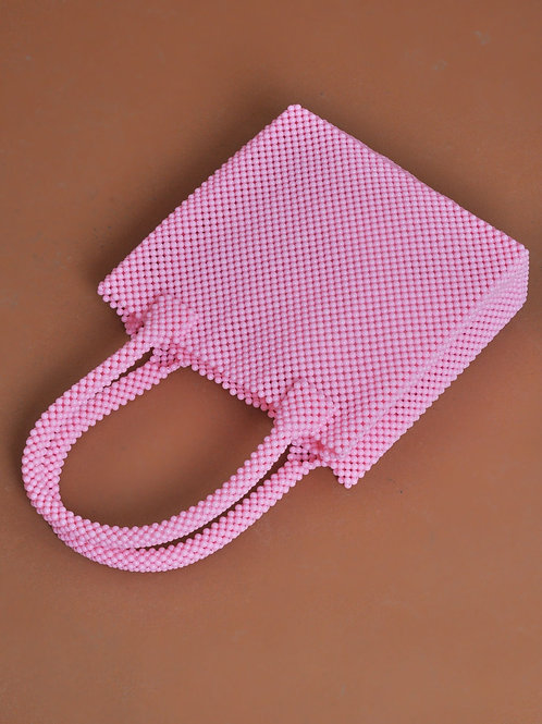 Safi beaded bag pink