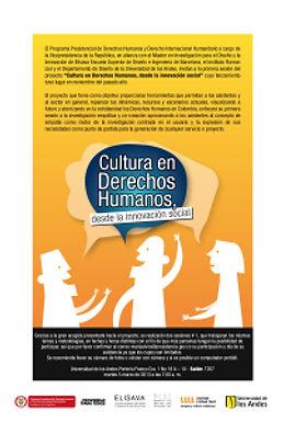Avances del Proyecto Cultura en Derechos Humanos desde la Innovación Social