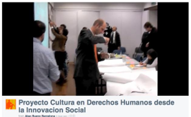 Cultura en Derechos Humanos desde la Innovacion Social