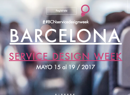 Save the Date Barcelona Service Design Week #BcnSDW