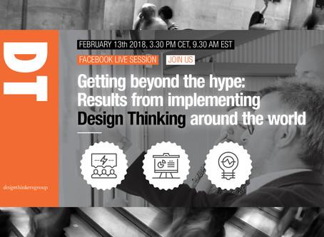 """No te pierdas """"DesignThinkers Group Global Meet-up 2018"""""""