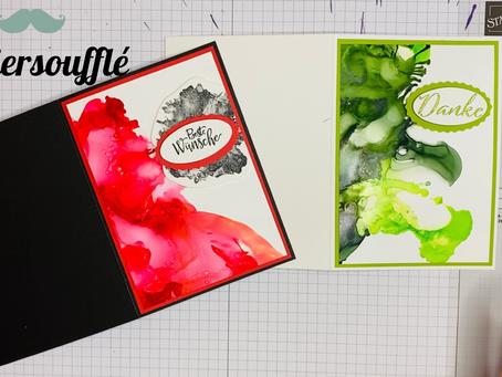Im Test: Hintergrundgestaltung mit alkoholbasierter Tinte