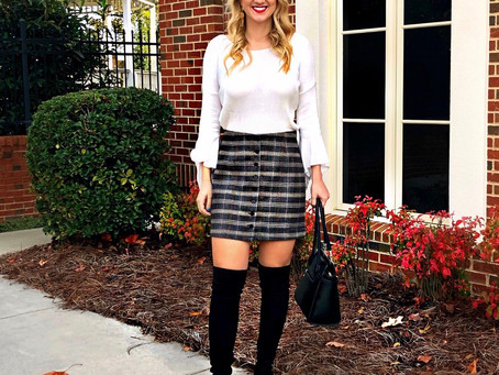 Fall 2019 Plaid Skirt and Knee High Boots