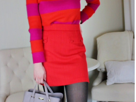 Valentines Day inspired look & the skirt style I'm obsessed with