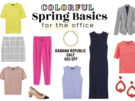 60% off colorful spring office-wear