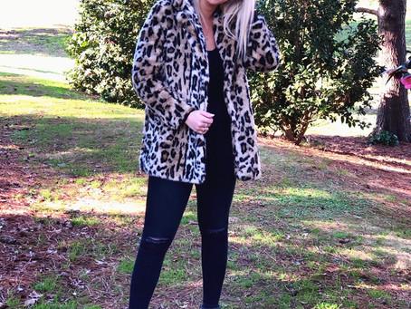 The Faux Fur Leopard Coat -RIDICULOUS Sales Happening