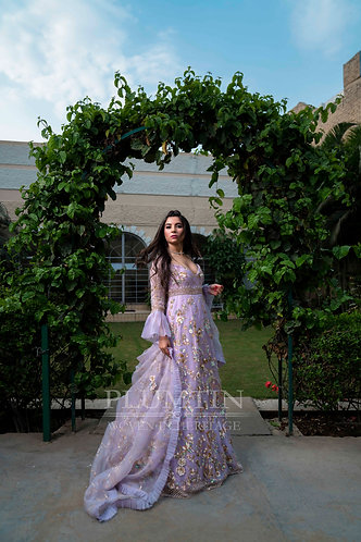 Lilac Sequins Gown