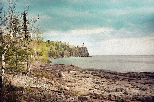 Two harbours lighhouse, Mn print for sale