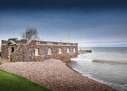 Glensheen Mansion boathouse print