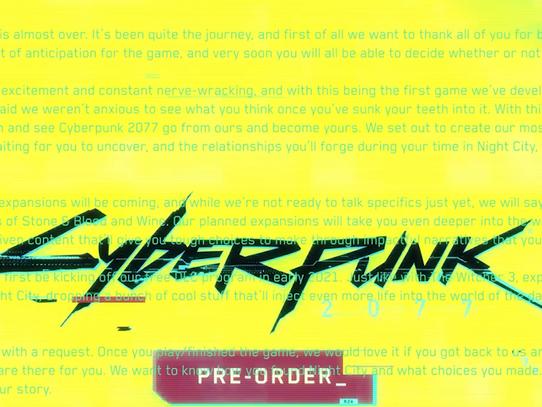 Data de lançamento das DLCs gratuitas de Cyberpunk 2077 são reveladas