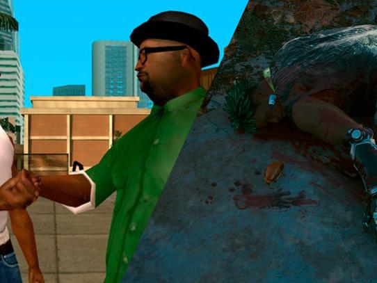 CJ e Big Smoke são encontrados em Cyberpunk 2077
