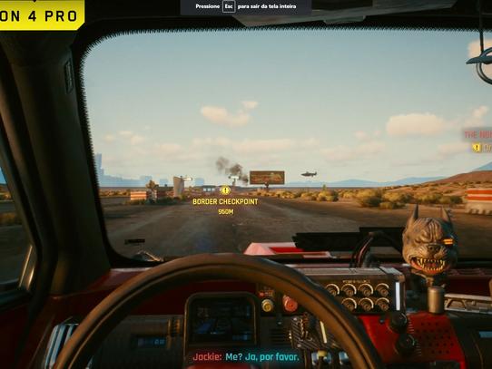Nova gameplay de Cyberpunk 2077 compara PS4 Pro e PS5