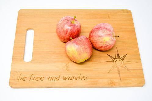 Live Free Bamboo Cutting Board