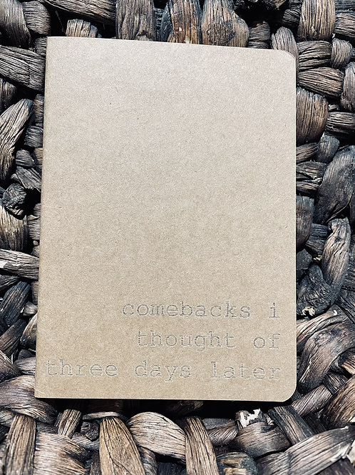 Comebacks Mini Notebook