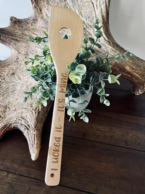 I Licked It bamboo utensil