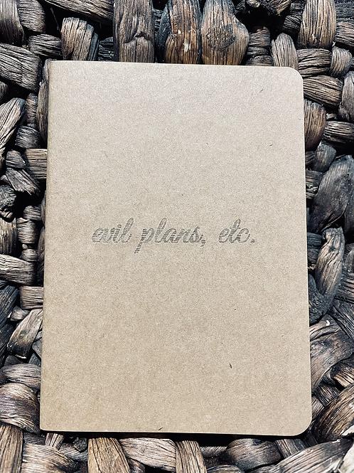 Evil Plans Mini Notebook