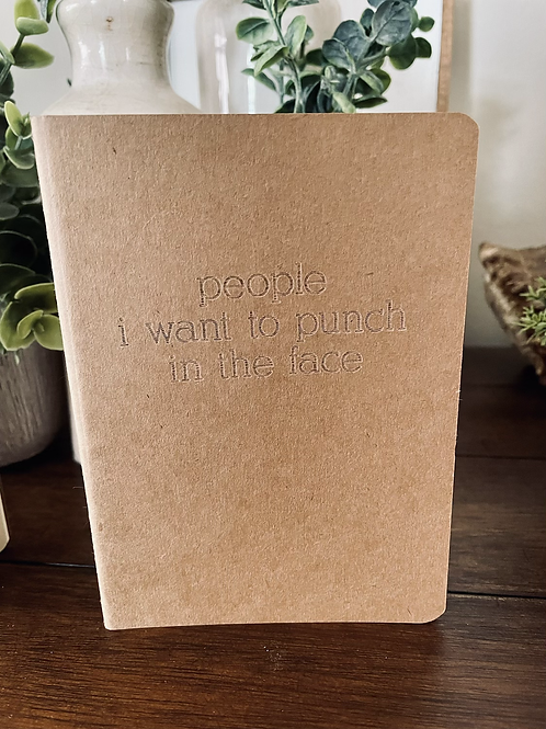 People to Punch Mini Notebook
