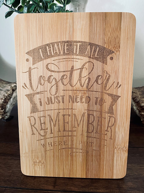 All Together Bamboo Board