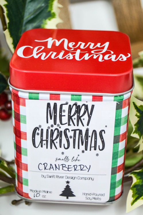 Merry Christmas Plaid 10oz Candle