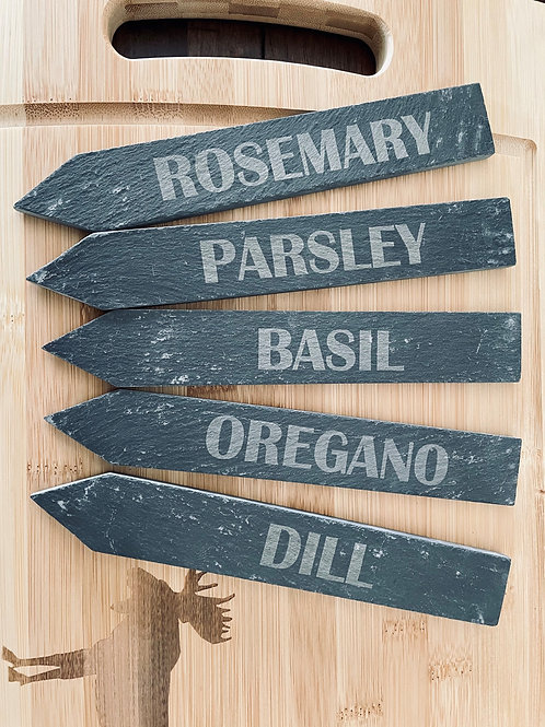 Slate Herb Markers
