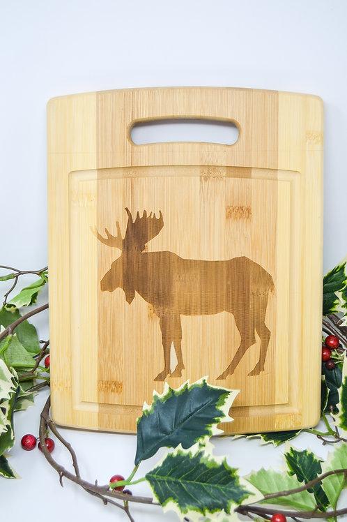 Moose Bamboo Cutting Board