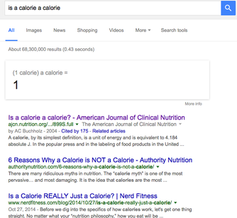 Let's Stop Talking About Whether a Calorie is a Calorie. Please?