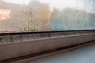 condensation on a window frame & how it is treated