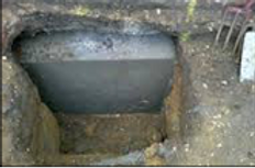 Concrete added under and around the difective foundation