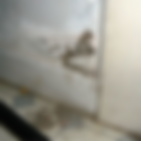 A picture showing damp plaster due to rising damp