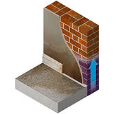 an image showing how rising damp affects a wall and wets the plaster