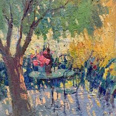 Morning in the garden.SOLD
