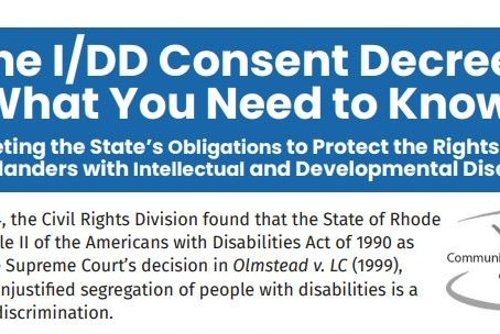 FACT SHEET: The I/DD Consent Decree, What You Need to Know